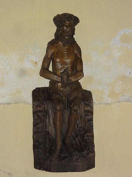 Les Autels (Aisne) église, statue Christ au liens