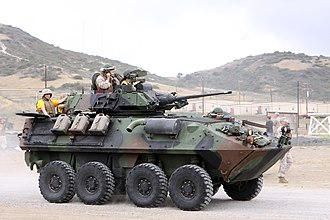 LAV-25 - A side view of a LAV-25A2