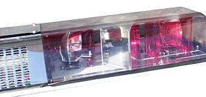 Close up of an older light bar: this light bar...