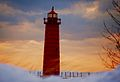 Lighthouse in Muskegon, Michigan at Pere Marquette Beach.jpg