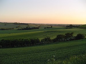 Horncastle, Lincolnshire - Looking from the Lincolnshire Wolds southwards towards Horncastle