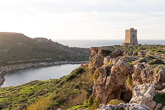 Lippija Tower - Lippija Tower overlooking Ġnejna Bay