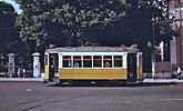 Lisbon tram 613 passing Jardim da Estrela in 1979.jpg