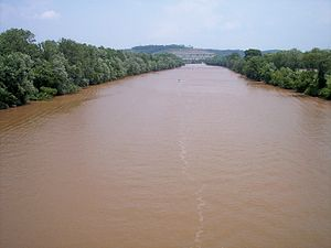 Little Kanawha River - The Little Kanawha River just upstream of its mouth in Parkersburg