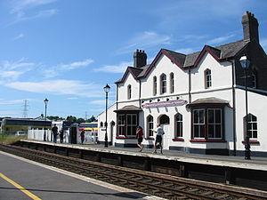 Llanfairpwll railway station - Image: Llanfairpwllgwyngyll gogerychwyrndrobwlll lantysiliogogogoch railway station