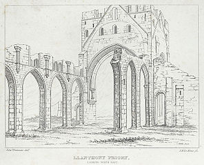 Llanthony priory. Looking north east