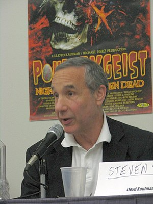 Lloyd Kaufman - Kaufman at the screening of Poultrygeist