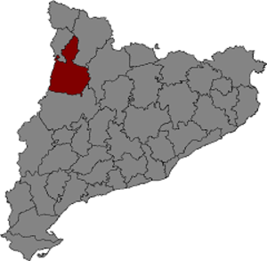 County of Pallars Jussà - Location of the County of Pallars Jussà within Catalonia.