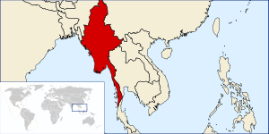 Location of Burma
