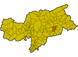Location of St. Martin in Thurn (Italy).png