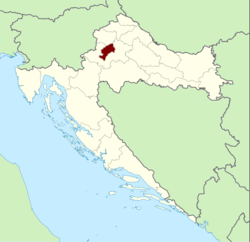 Location of Zagreb within Croatia
