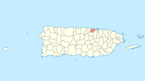 Location of Toa Baja in Puerto Rico