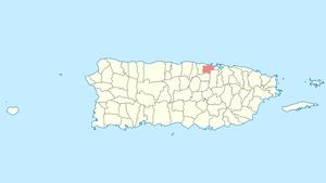 Toa Baja, Puerto Rico - Image: Locator map Puerto Rico Toa Baja
