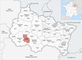 Location within the region Grand Est