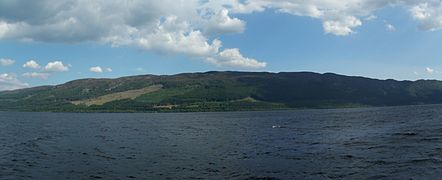 Loch ness panorama from a ship in 2008