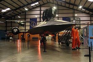 March Field Air Museum - Lockheed SR-71 Blackbird on display