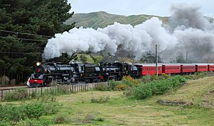 "Steam Incorporated - Locomotives Ja 1271 and Ab 608 pulling historic carriages on Steam Inc's 2015 ""Double Thunder"" excursion"