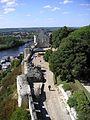 Logis royaux vue de la tour de l'horloge Chinon.JPG