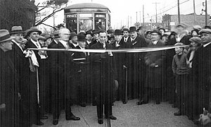 Long Branch, Toronto - Official Opening of the Streetcar on Lake Shore, 1928