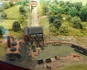 Looking down the Hay Inclined Plane, diorama, Museum of the Gorge, Ironbridge.jpg