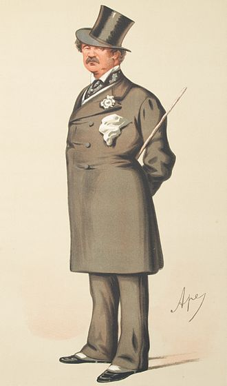 Lord Alfred Paget - Caricature by Ape published in Vanity Fair in 1875.