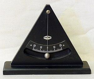Plumb bob - Plumb-bob with scale as an inclinometer