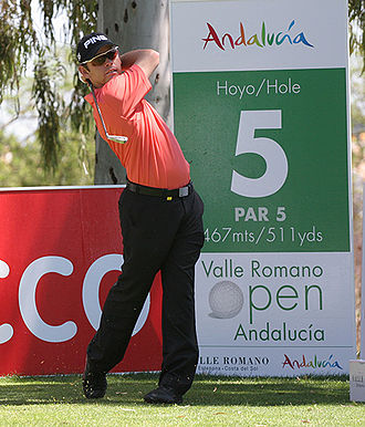 Louis Oosthuizen - Oosthuizen at the 2007 Valle Romano Open at the Aloha Golf Club, Marbella, Spain