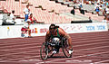 Louise Sauvage racing at Barcelona 1992 Paralympics.jpg