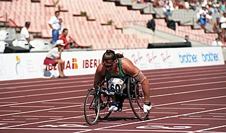 Australia at the 1992 Summer Paralympics - Triple gold medalist Louise Sauvage racing