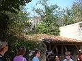 Louresse-Rochemenier troglodyte village courtyard 3.JPG