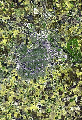 English: Satellite image of Lubbock, Texas