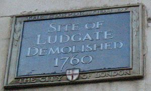 Ludgate - Plaque marking the location of Ludgate