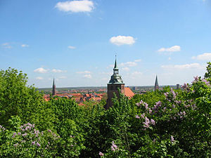 Lüneburg - Lüneburg around 1995 – View from the Kalkberg towards the east