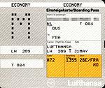 Lufthansa - boarding pass LH209 Düsseldorf-Frankfurt 1992-05-31.jpg
