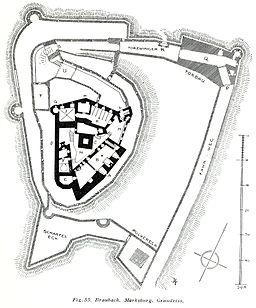 Braubach Marksburg Grundriss (Luthmer V - 55)