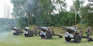 Luxembourg National Day 2004 - 101 cannon shots
