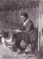 Mädchen, Hühner fütternd (1870).png