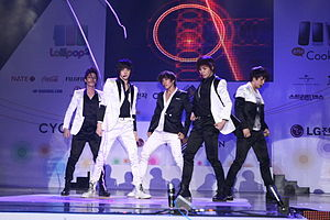 MBLAQ - MBLAQ in 2010 - From left to right:  Seungho, Thunder, Joon, Mir, G.O