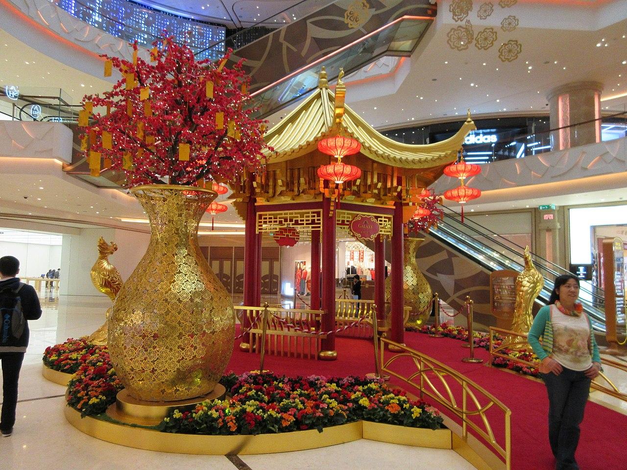 file mc jw marriott galaxy macau mall the promenade chinese new year lunar decor jan 2017. Black Bedroom Furniture Sets. Home Design Ideas