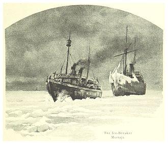 Murtaja (1890 icebreaker) - Drawing of Murtaja published in 1894.