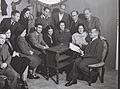 "MEMBERS OF THE COOPERATIVE THEATRE HABIMA IN TEL AVIV. (FOR MORE INFORMATION, PICTURE NO. L14513-25) חהרי תאטרון ""הבימה"" בתל אביב.D838-012.jpg"