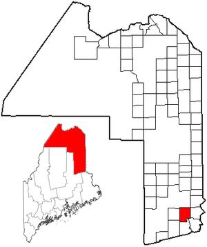 Haynesville, Maine - Image: ME Map location of Haynesville