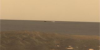 Meridiani Planum plain located 2 degrees south of Mars equator