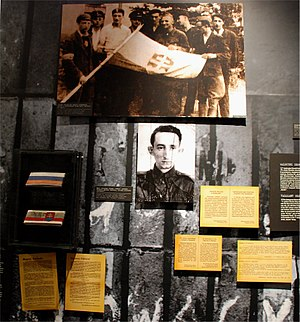 Mirosław Iringh - Portion of the exhibit dedicated to Platoon 535 led by Mirosław Iringh at the Warsaw Uprising Museum