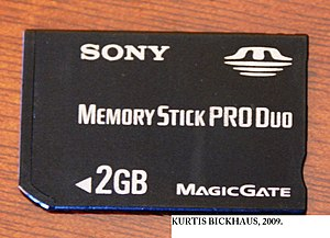 English: A Sony memory stick pro duo. 2GB.