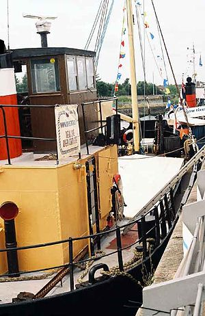 """Vital Spark - The deck of a """"puffer""""."""