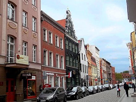 Torun's typical renovated Old Town street - Male Garbary Male Garbary Street in Torun.jpg
