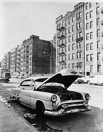 South Bronx - Macombs Road in Morris Heights, circa 1964
