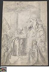 Madonna met Kind, vereerd door heiligen en stichters