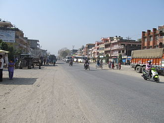 Butwal - The Mahendra Rajmarg (East-West-Highway) is an important thoroughfare in Butwal